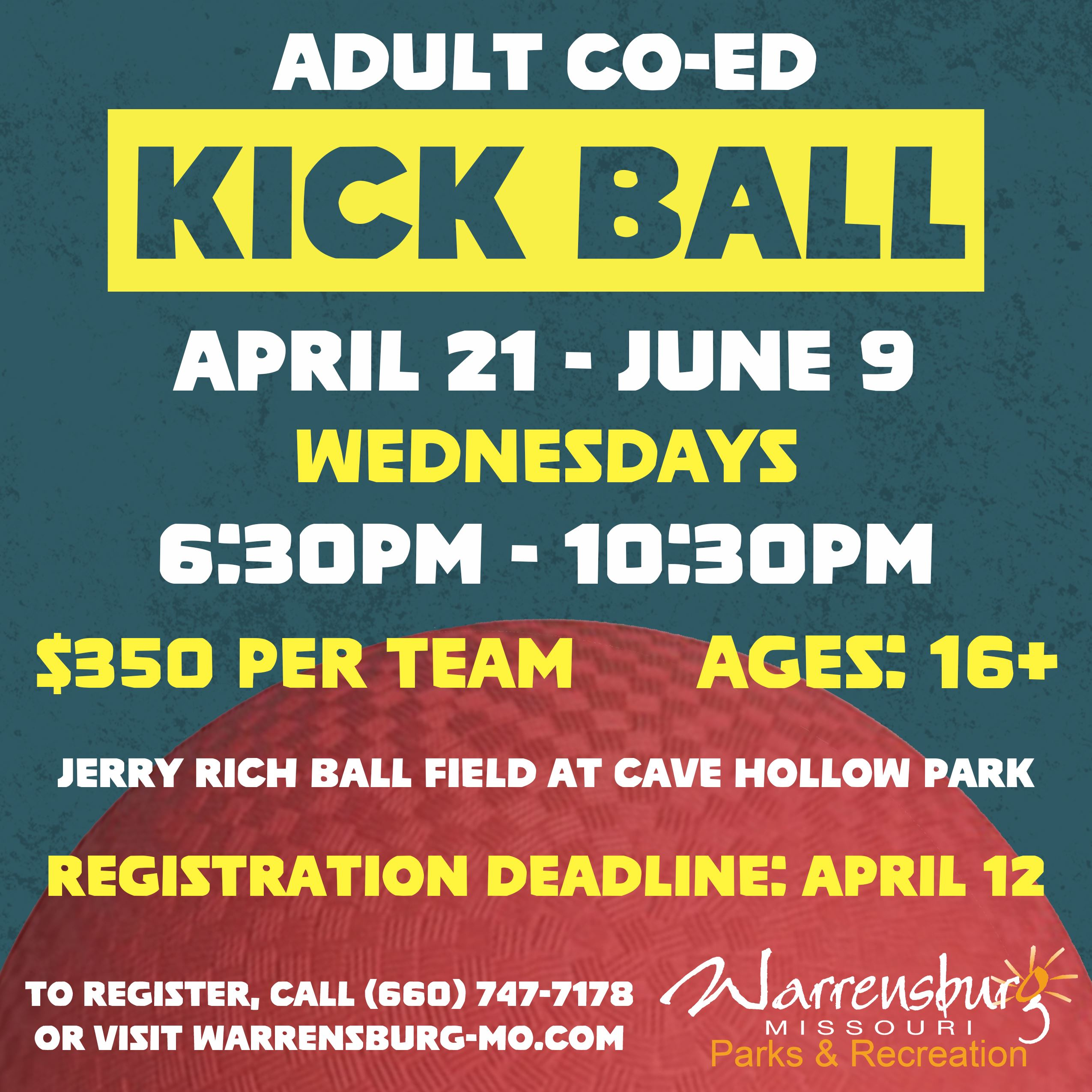 Adult Kickball Spring 2021 Web