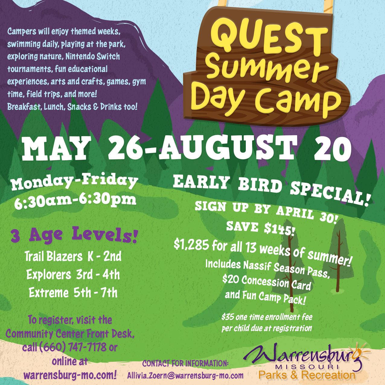 Summer Day Camp 2021 Early Bird Ad Web